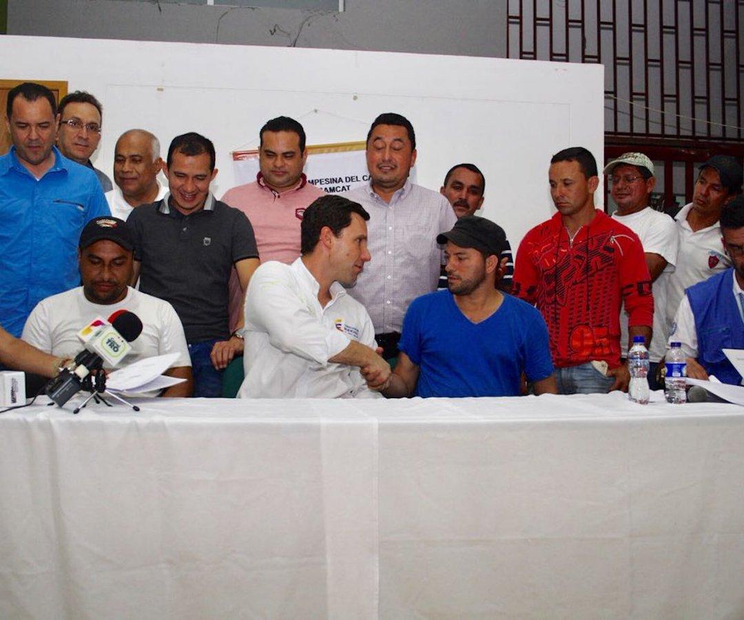 Campesinos del Catatumbo levantan paro y reactivarán la mesa de interlocución