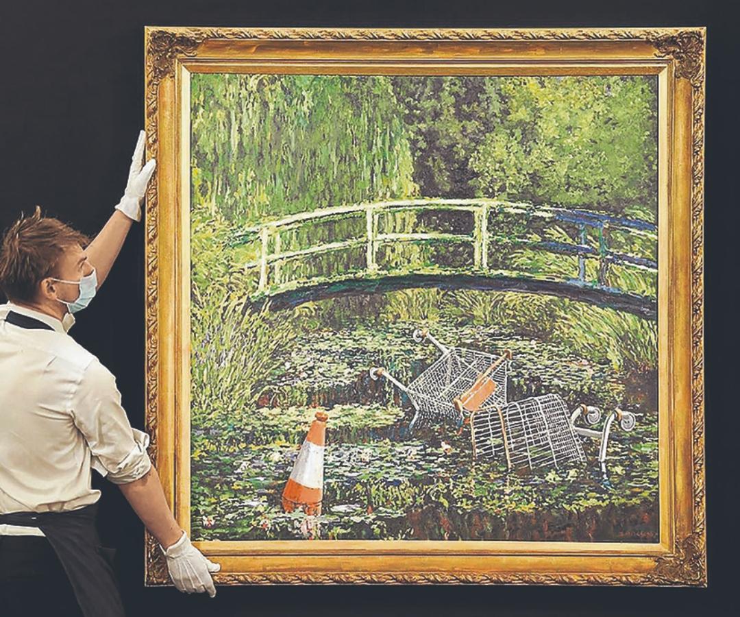La nueva faceta de Banksy por US$6,4 millones