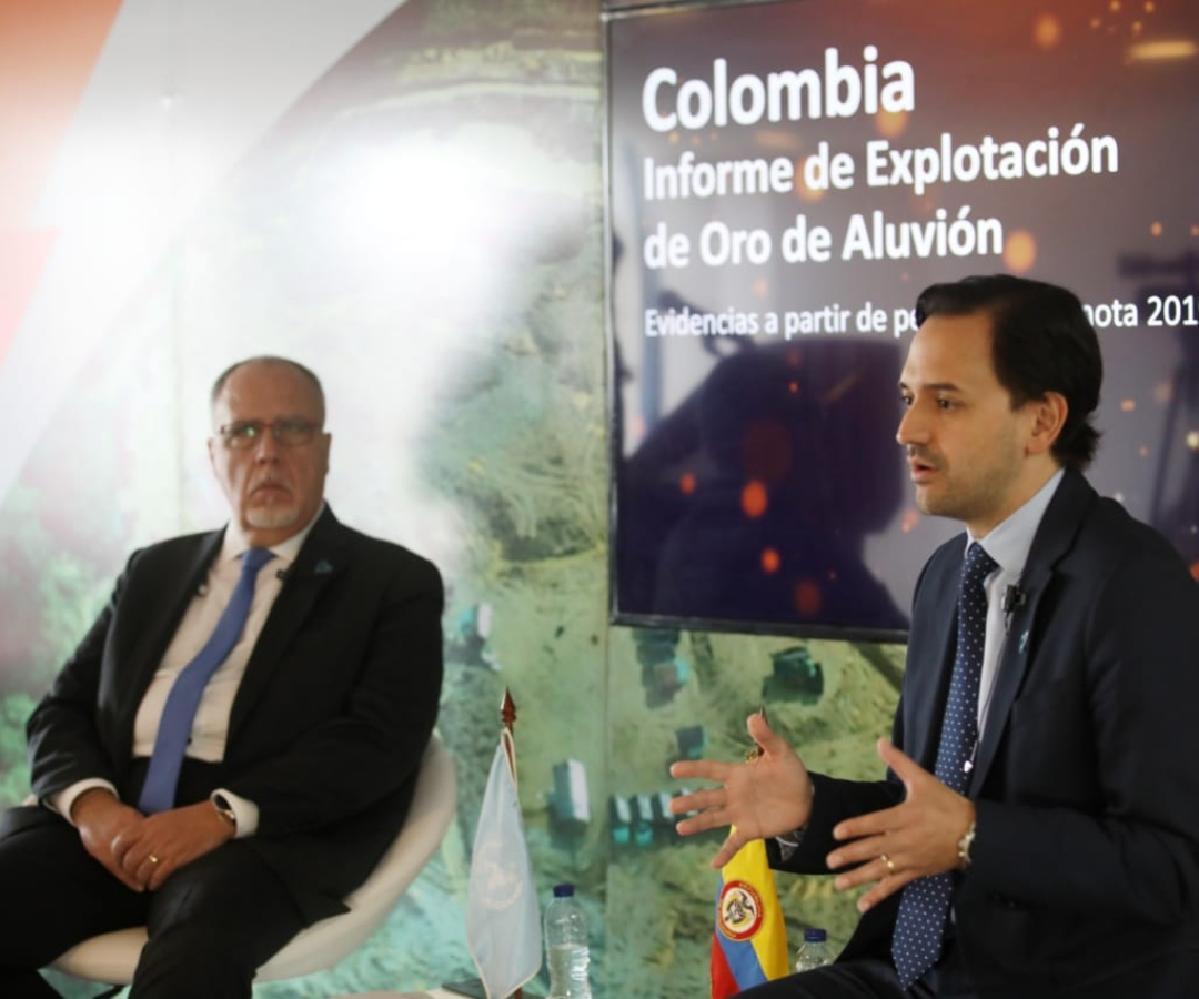Minminas anunció que en el país hay más de 64.000 hectáreas con explotación ilícita de oro