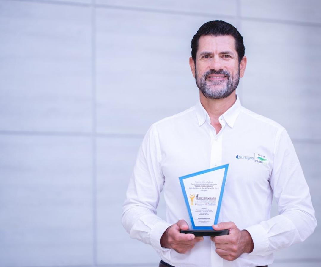 Surtigas recibió un reconocimiento por Andesco y la Superintendencia de Servicios