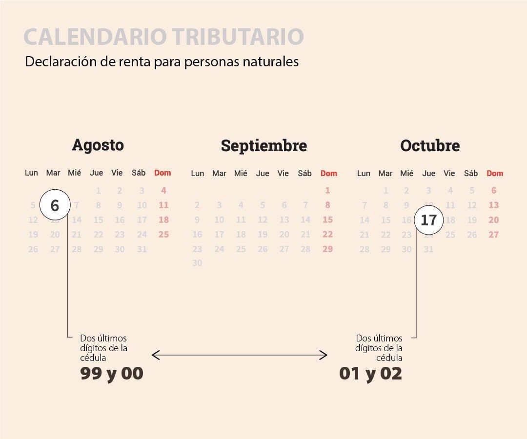 Calendario Agosto 2019 Numeros Grandes.Conozca Cuando Debe Pagar Sus Impuestos En 2019 Ya Hay