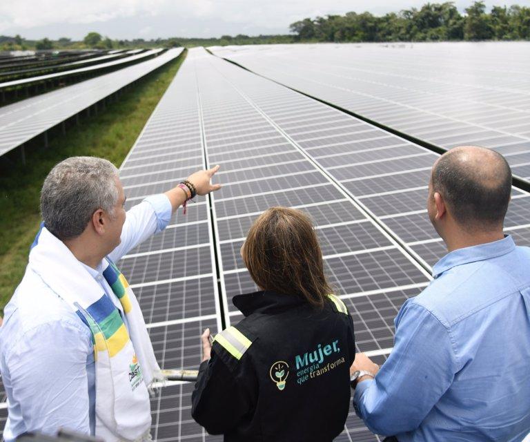 Ecopetrol inauguró su parque solar en Castilla la Nueva, departamento del Meta - La República