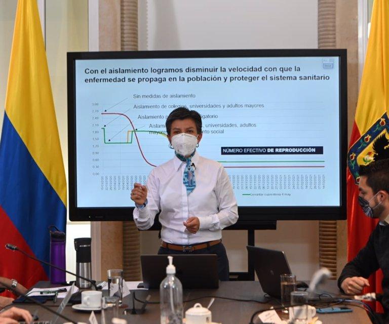 Las cinco nuevas zonas de Bogotá con alerta naranja por la propagación del covid-19